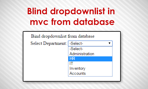 dropdownlist in mvc from database