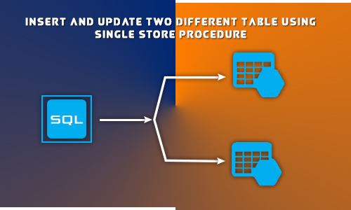 Insert and update two different table using single store procedure in Sql