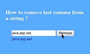 remove commo from a string (1)