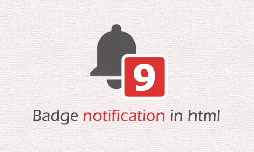 Badge notification in html