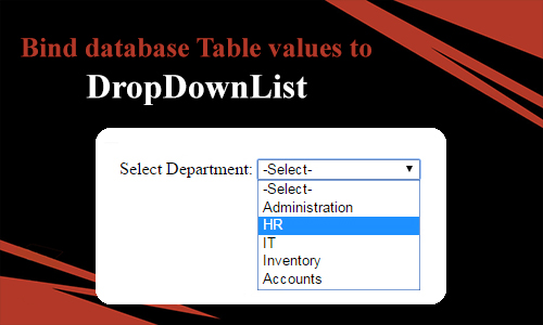 How to bind Database  Table  values  to DropDownList in MVC?