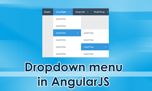 Q: How to place dropdown menu in angularjs?
