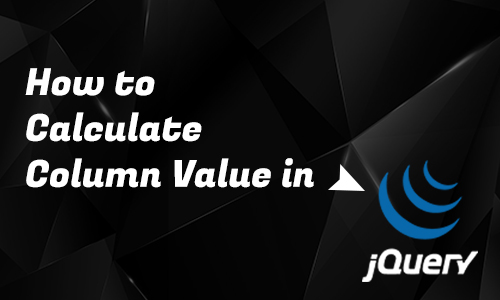How to calculate column value in Jquery?