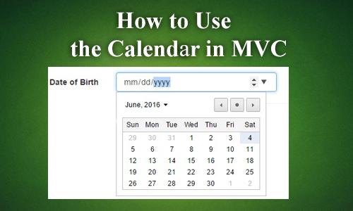mvc calendar