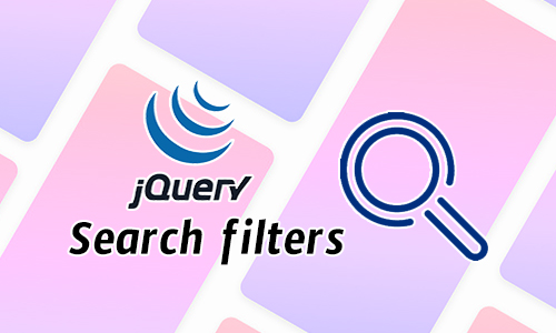 Jquery Search filters