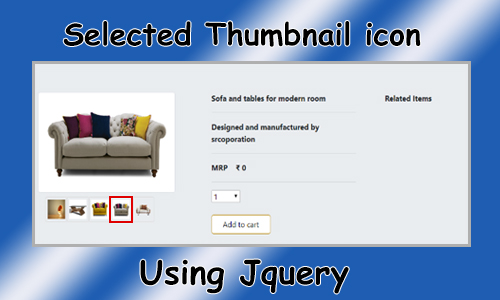 How to show selected thumbnail icon using jquery?